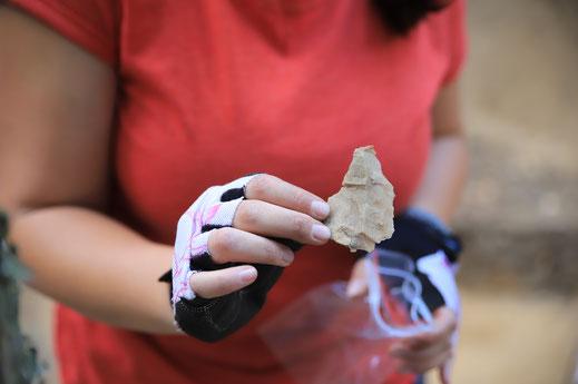 Mesolithische Ausgrabung mitmachen Erlebnis Archäologie