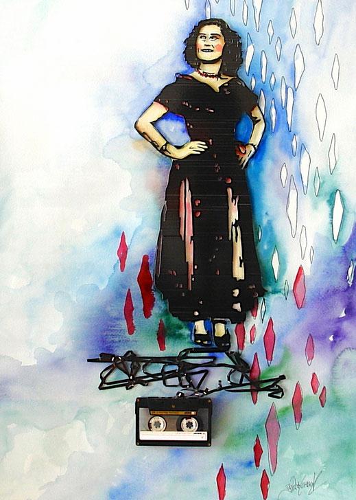 Personalisiertes Bild nach Fotovorlage, individuelle Fotoanfertigung, Tapeart, Katrin Lazaruk, Familienfoto, Hochzeitsgeschenk, personalisiertes Hochzeitsgeschenk, personalisiertes Geschenk, Kassettenbild
