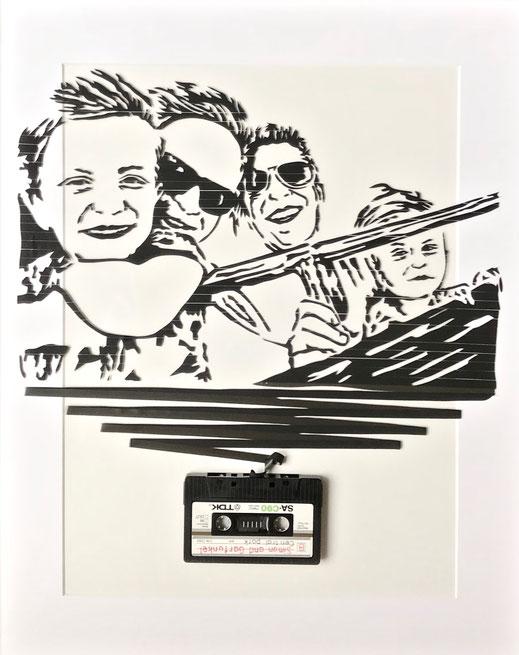 tapeart Bild aus kassettenband