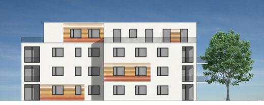 Mehrfamilienhaus - Ansicht Süd (Bild: planerkollektiv Architekten)