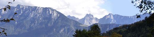 Blick vom Wanderweg zum Bichlersee, Oberaudorf