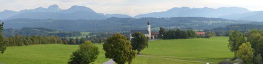 Blick vom Irschenberg Richtung Wendelstein