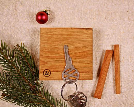 Upcycling Weihnachtsgeschenk Magnethalter