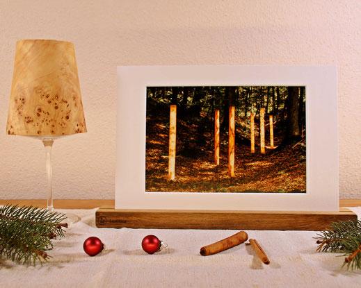 Upcycling Weihnachtsgeschenk Windlicht und Bilderleiste