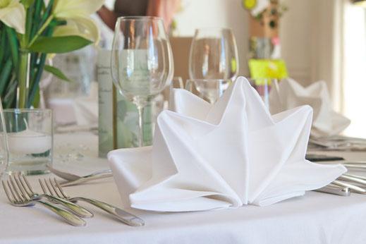 Tischwäsche Gastronomie, Tischdecke, Serviette,