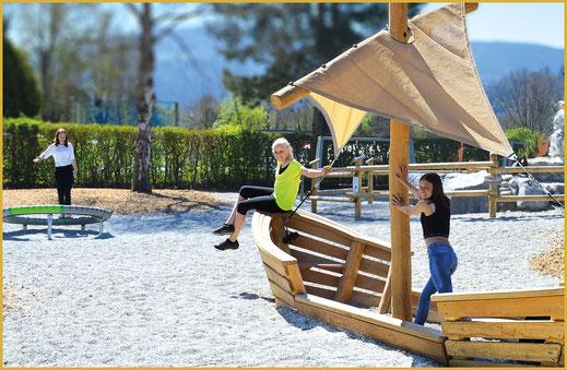 Kinderspielplatz im KAISER CAMPING in Bad Feilnbach