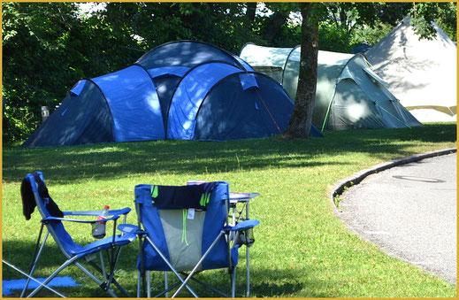 Zeltplätze im KAISER CAMPING in Bad Feilnbach