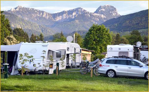 Urlaubsplätze, Zeltplätze im KAISER CAMPING Bad Feilnbach