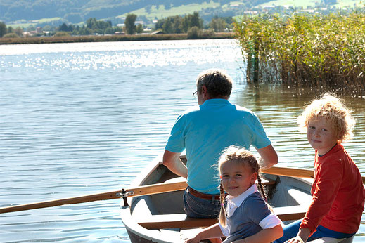 Bootfahren am Chiemsee, Start am Kaiser Camping Bad Feilnbach