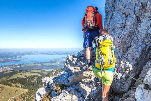 Klettertouren rund um den Campingplatz in Bad Feilnbach