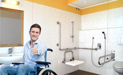 Behindertengerechte Sanitäranlagen im Kaiser Camping in Bad Feilnbach