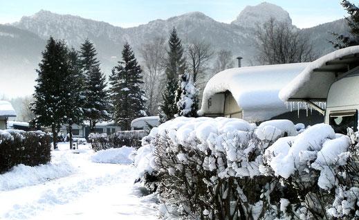 Winter im Campingplatz in Bad Feilnbach