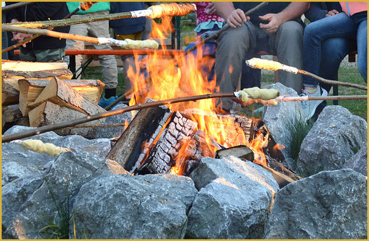 Lagerfeuer im KAISER CAMPING in Bad Feilnbach