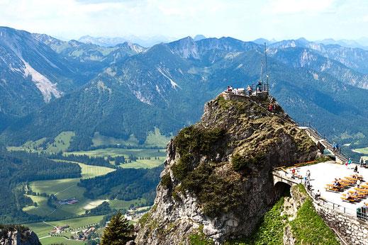 Blick vom Wendelstein - Ausflug vom Campingplatz in Bad Feilnbach