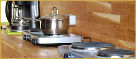 Kochgelegenheit für Zeltler im KAISER CAMPING in Bad Feilnbach