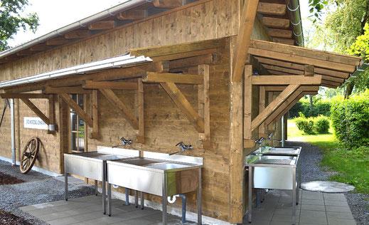 Moderne Ausstattung der Sanitäranlagen im Kaiser Camping in Bad Feilnbach