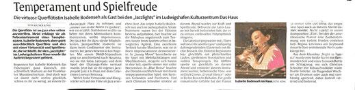 Artikel von Rainer Köhl, Rheinpfalz