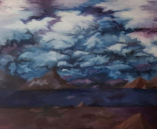 Landschaft, 2021, Acryl auf Leinwand, 120x 100 cm