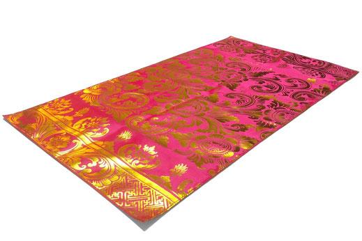 Tischläufer rosa/pink mit Goldaufdruck