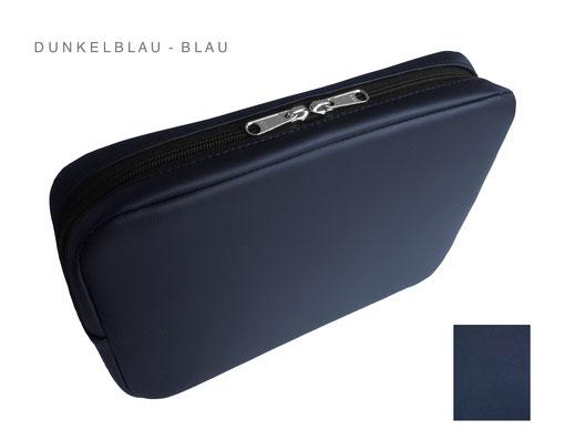 dunkelblaue Herrentasche, Unterarmtasche mit Reißverschluss, Diensttasche
