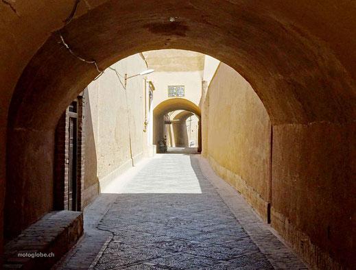 Die Alstadt von Yazd besteht aus einem grossen Gassenlabyrinth