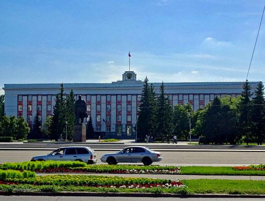 Lenin darf nicht fehlen. Platz in Barnaul