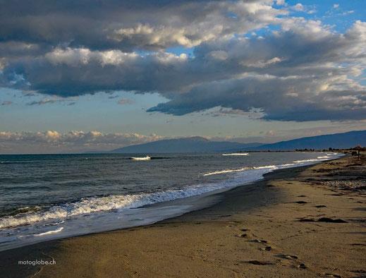Abendstimmung am Strand von Paralia