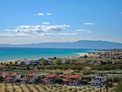 Es geht der Küste entlang bis nach Thessaloniki