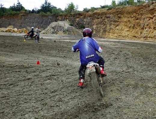 Motorradreisen Motorrad Dreck Sliding