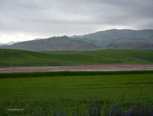 Regen gibt der schönen Landschaft einen besonderen Touch