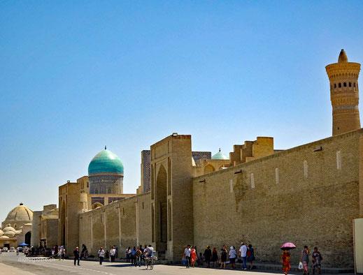 Buchara ist kleiner und übersichtlicher als Samarkand
