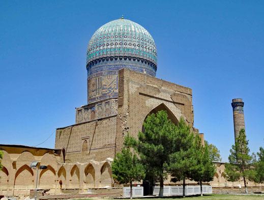 Ein Teil der Bibi-Xonum Moschee in Samarkand