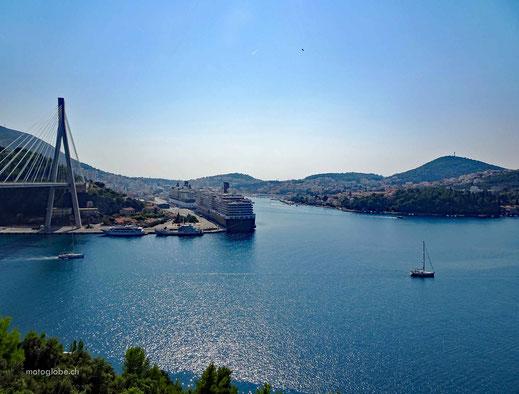Die Hafenbucht von Dubrovnik