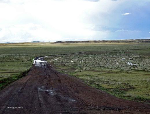Kurz vor Altai erwartete mich dann noch dieses Sumpfgebiet