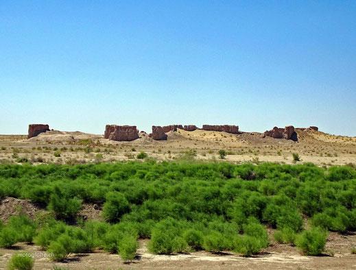 Die Überreste einer Karavanserei