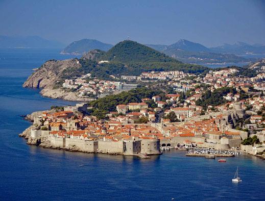 Eine vielbesuchtesten Städte der Adria Küste, Dubrovnik