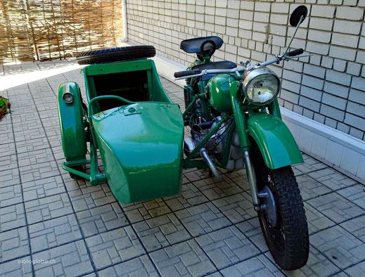 Eine schöne restaurierte Ural Maschine