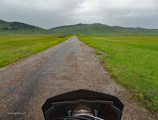 Auch in Kirgistan regnet es