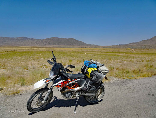 Das Grenzgebiet zwischen Turkmenistan und Iran. Problemlose Einreise.