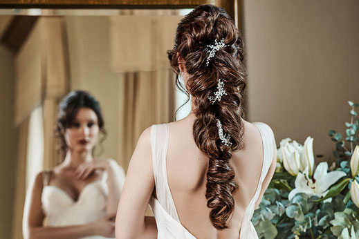 Aus langem Haar lassen sich die zauberhaftesten Brautfrisuren kreieren.  Foto: djd/Great Lengths
