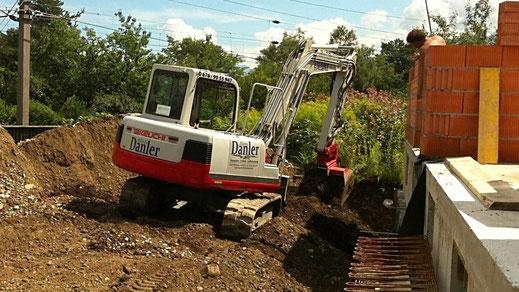 Keller Baugrube hinterfüllen