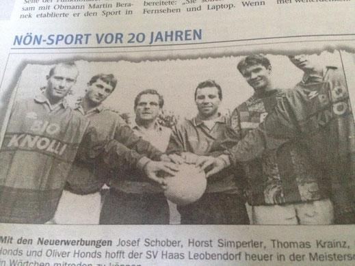 Krainz als Torjäger in Leobendorf!