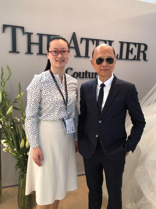 The Atelier Couture by Professor Jimmy Choo exklusiv für Audrey Wedding Salon Brautmode Köln, hier zusammen mit Shen Qiu in Barcelona