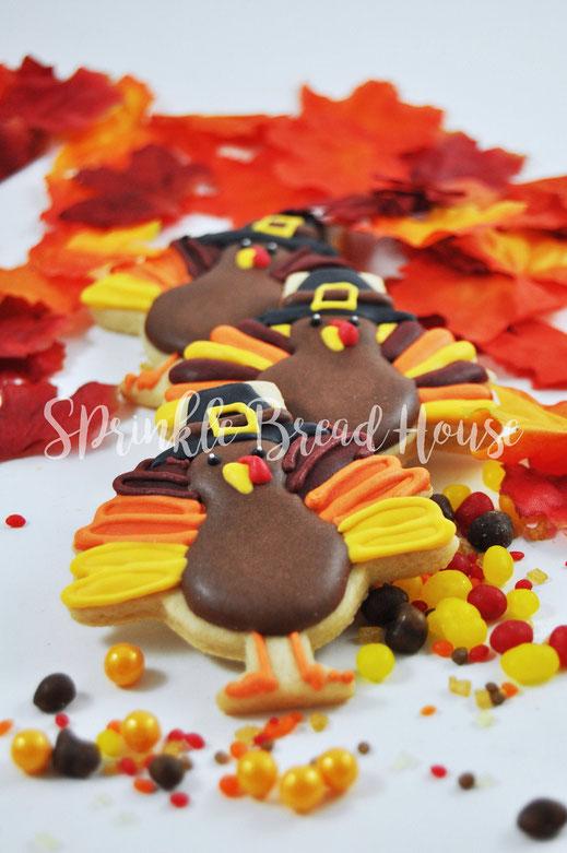 Thanksgiving Cookies - Gobble til you Wobble