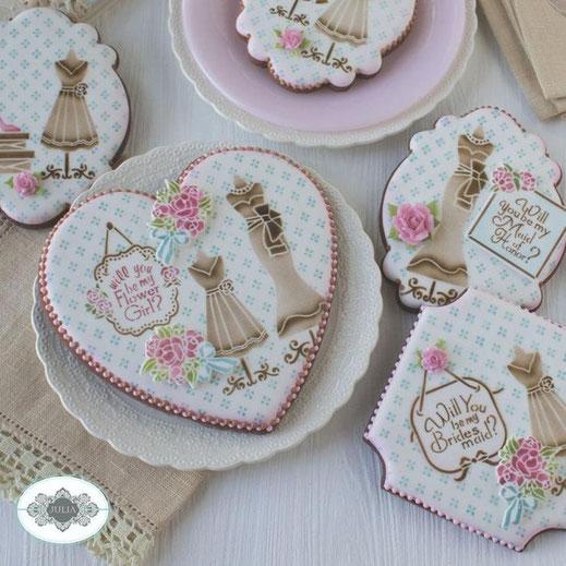 Wedding Cookies Stencils