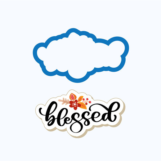 Blessed Plaque Cookie Cutter