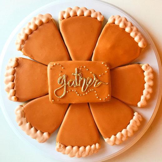 Pumpkin Pie Thanksgiving Sugar Cookies