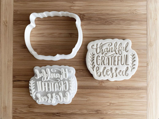 Thankful Grateful Blessed Cookie Cutter