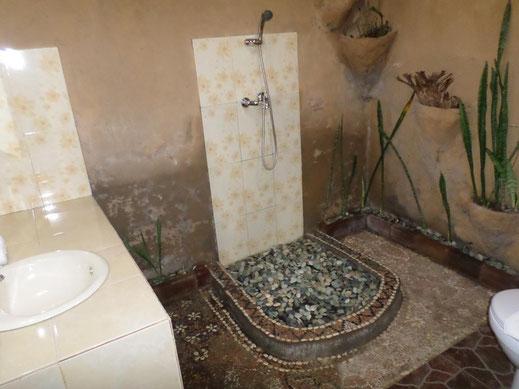 Une des salles de bain originales mais peu pratiques