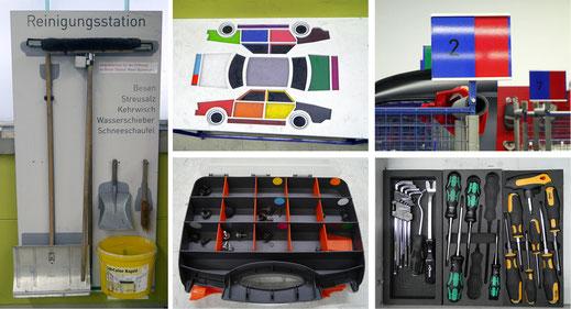 Verschiedene Efficiency Tools für effizientes Arbeiten in der Werkstatt